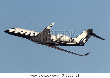 Las Vegas, Nevada, Usa - May 9, 2013: Gulfstream G650 Long Range Luxury Business Jet Owned By Steve