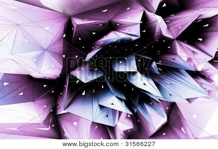 violet blossom abstract shape