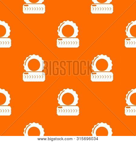 Paintball Field Tire Barricade Pattern Vector Orange For Any Web Design Best