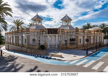 Natural Roman baths in Banos de Fortuna, Murcia region, Spain poster