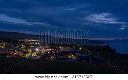 Russia Skeleton Olkhon City Khuzhir June 2019 View Of The Night City Khuzhir