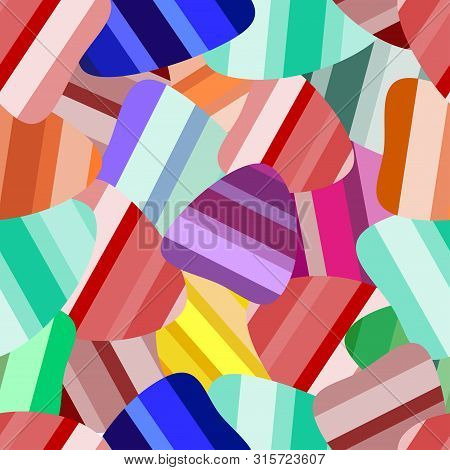 Marmalade Colorfull Seamlees. Jelly Fruit Candy Pattern. Sweet Jelly Abstract Background. Vector Ill