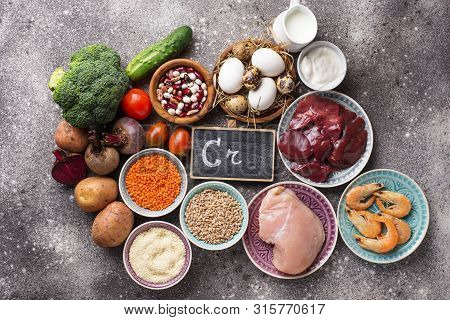 Natural Products Sources Of Chromium. Food Containing Cr