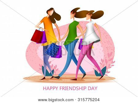 People Celebrating Happy Friendship Day Bonding Of Togetherness Between Friends