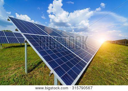 Solar Panels. Power Station. Blue Solar Panels. Alternative Source Of Electricity. Solar Farm. The S