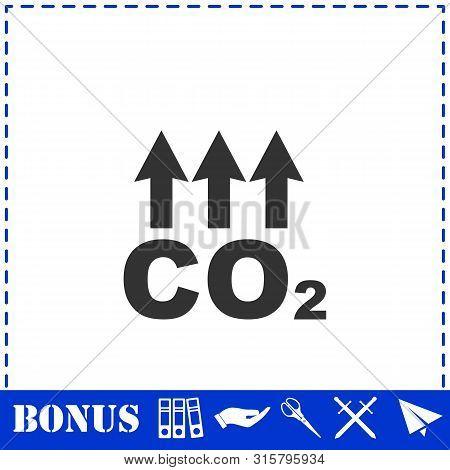 Evaporation icon flat. Simple vector symbol and bonus icon poster