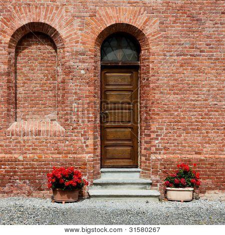 Old narrow door