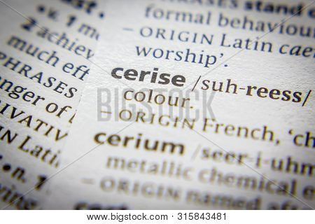 Word Or Phrase Cerise In A Dictionary