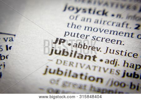 Word Or Phrase Jp In A Dictionary
