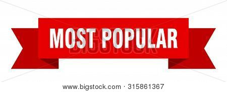 Most Popular Ribbon. Most Popular Isolated Sign. Most Popular Banner