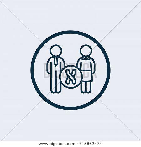 Chromosome Icon Isolated On White Background. Chromosome Icon Simple Sign. Chromosome Icon Trendy An
