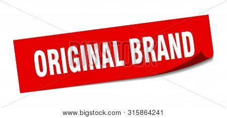 Original Brand Sticker. Original Brand Square Isolated Sign. Original Brand
