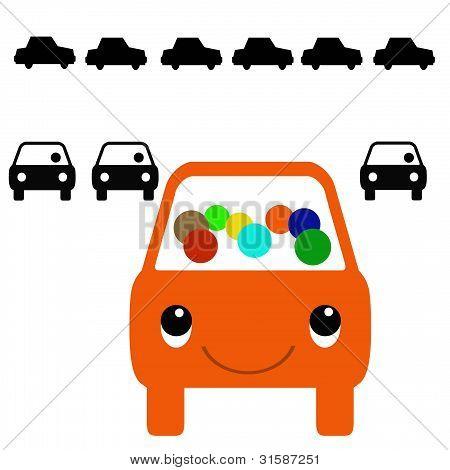 colorful carpool