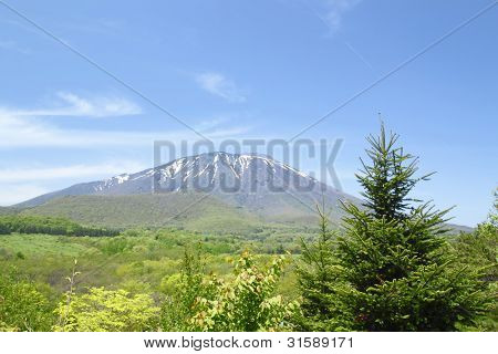 Mt.iwate And Blue Sky