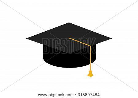 Graduation Cap. Education Concept. Vector Stock Illustration