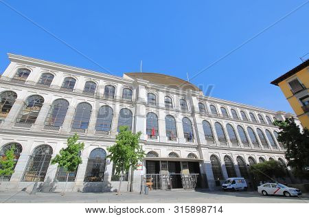 Madrid Spain - May 28, 2019: Madrid Royal Conservatory Of Music Spain