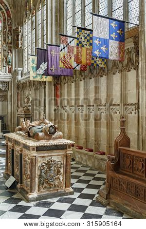 Warwick, Uk - February 15, 2013. Collegiate Church Of St Mary In Warwick. The Tomb Of Ambrose Dudley