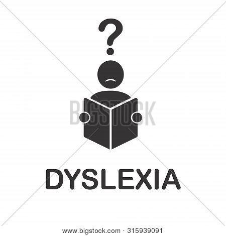 Vector Illustration Of Dyslexia Disorder Icon. Dyslexia Symbol