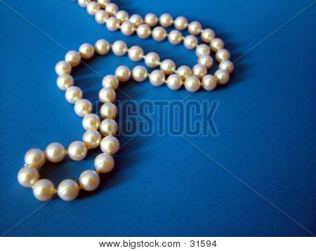 Pearls On Blue 4