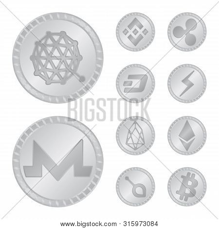 Isolated Object Of Cryptography And Finance Symbol. Set Of Cryptography And E-business Vector Icon F