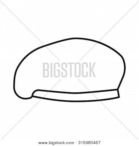 Vector Design Of Hats And Commando Icon. Collection Of Hats And Clothes Stock Vector Illustration.