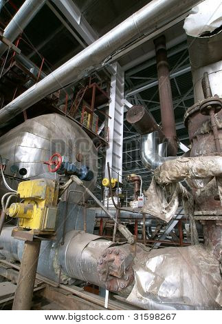 Industrial Zone, Steel Pipelines And Valves