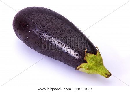 eggplant sprinkled with water