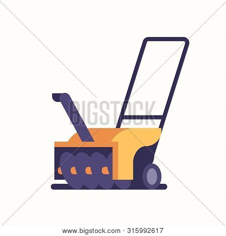 Snowblower Or Snow Thrower Icon Winter Snow Removal Concept Flat