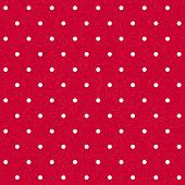 Vector seamless red polka-dotted background with white dots poster
