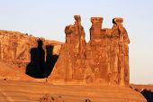 The Three Gossips at Arches National Park Utah poster