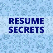 Writing note showing Resume Secrets. Business photo showcasing Tips on making amazing curriculum vitae Standout Biography Multiple Layer Different Size Concentric Circles Diagram Repeat Pattern. poster