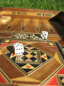 Backgammon  Board And Dices