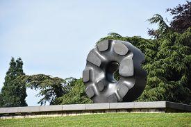 Seattle, Wa - Jun 14: Black Hole Sun Sculpture By Noguchi At Volunteer Park In Seattle, Washington,