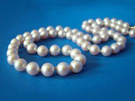 Pearls On Blue 1