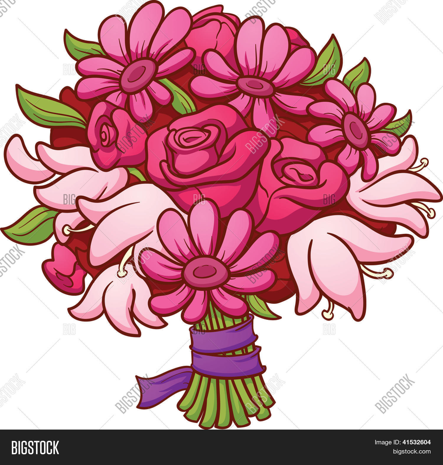Flower Bouquet Vector Image Photo Free Trial Bigstock