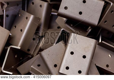 Sheet Metal Product After Processing On A Bending Machine. Precise Bending Of Metal Products