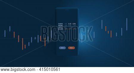 Fintech Software Development, Modern Digital Business And Market Analysis, Stock Trading, Investment