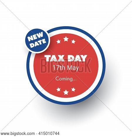 Irs Tax Day Is Coming - Design Template -- Usa Tax Deadline, New Extended Date For Irs Federal Incom