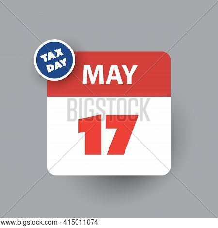 Tax Day Reminder Concept - Calendar Design Template - Usa Tax Deadline, New Extended Date For Irs Fe