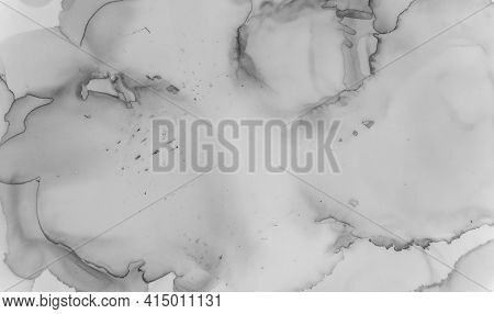Marble Texture. Abstract Wallpaper. Watercolor Ceramic Pattern. Black Floor Effect. Grey Marble Text