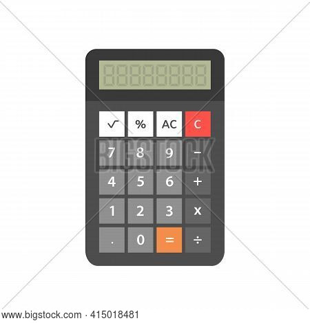 Calculator Isolated On White Background. Calculator Flat Style Icon. Vector Stock