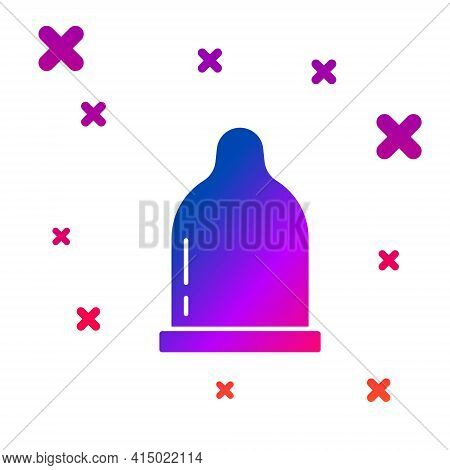 Color Condom Icon Isolated On White Background. Safe Love Symbol. Contraceptive Method For Male. Gra