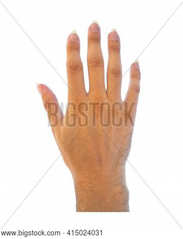 Hands With Large Nails Isolated Photo