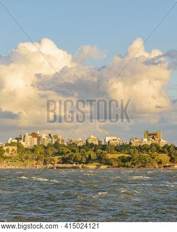 Waterfront Coastal Scene, Montevideo, Uruguay