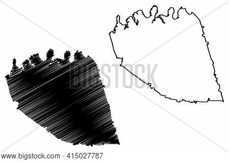 Wilson County, State Of Tennessee (u.s. County, United States Of America, Usa, U.s., Us) Map Vector