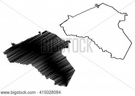 Athens City, Georgia (united States Cities, United States Of America, Usa City) Map Vector Illustrat