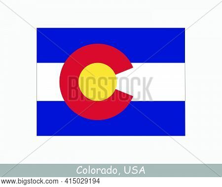 Colorado Map Flag. Map Of Co, Usa With The State Flag Isolated On White Background. United States, A