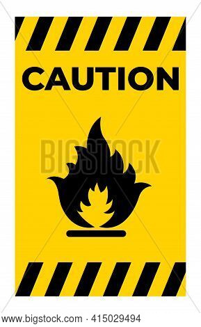 Beware Flammable Gas Symbol Isolate On White Background