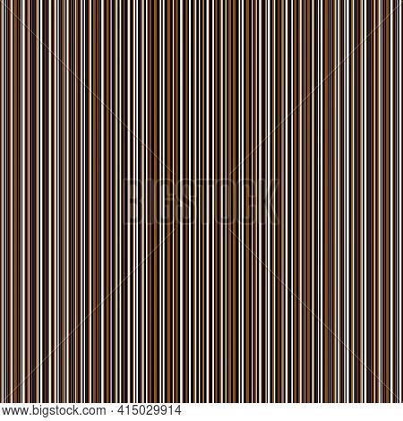Vector Seersucker Dense Striped Seamless Pattern Background. Ochre Black White Random Vertical Pinst