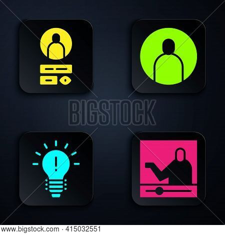 Set Online Education, Create Account Screen, Light Bulb With Concept Of Idea And Create Account Scre